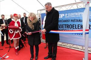 Svečano puštana u pogon prva vjetroelektrana u BiH